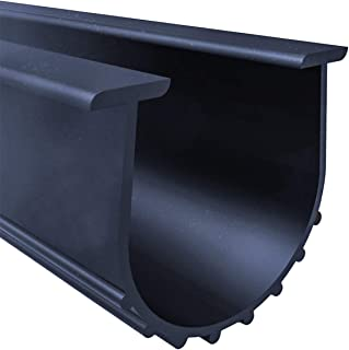 Garage Door Bottom Weather Stripping Kit Rubber Seal Strip Replacement, Weatherproofing Universal Sealing Professional Grade T Rubber,5/16