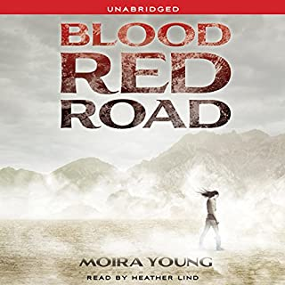 Blood Red Road audiobook cover art
