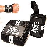 KAIXO FITNESS muñequeras deportivas gym crossfit. Muñequeras para entrenamientos de crossfit, levantamiento de pesas y fitness. Hombre y mujer (Blanco)