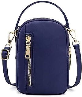 حقيبة صغيرة للنساء للسفر كروسبودي حقيبة الهاتف الخليوي محفظة حقائب الخصر محفظة حقيبة مع 3 جيوب سحاب
