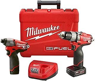 Milwaukee 2594-22 M12 Fuel Combo 1/2 Drill/Impact W/2 Bat