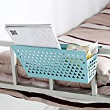MeterMall Iron Dormitory Hanging Storage Baskets for Bedside Notebook Book Sundries Random Color