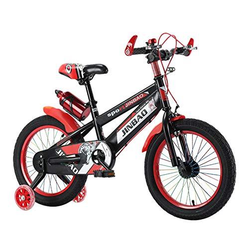Bicicleta infantil para niños y niñas, de 3 a 12 años, estilo libre, ruedas de apoyo de 45 cm