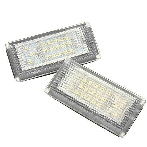 DressU Alto Brillo 2pcs 18 LED License Lámpara Nubmer Lámpara de Lámpara para Miniskirt Cooper S R50 Alto Rendimiento