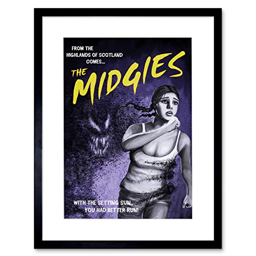 Wee Blue Coo LTD Movie Film Mock-Up Promo Midgies Scotland Artwork Framed Wall Art Print 12X16 Inch Film Spotten Schottland Wand