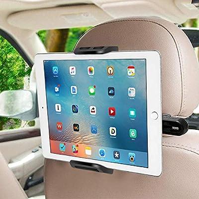 Compatibilidad Universal: Este soporte tablet para coche es compatible con todos los dispositivos desde 6 hasta 11 pulgadas,compatible con iPad 2 / 3 / 4 , iPad Air, iPad Mini, Samsung Galaxy Tab, Switch,Huawei MediaPad,iPhone XS Max/ XS/ X/ 8 Plus/ ...