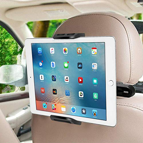"SUCESO Soporte Tablet Coche Soporte para Tablet Soporte para Reposacabezas de Coche para 6-11"" Pulgadas 360° Soporte para Tablet para iPad Pro Air Mini,Samsung Galaxy Tab,iPhone,Huawei,Otras Tablets"