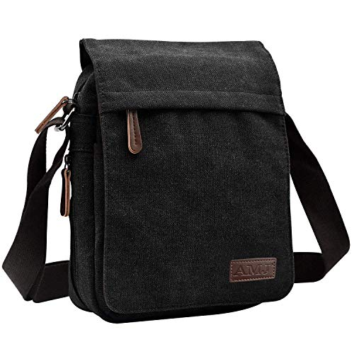 AMJ Canvas Messenger Bag, Sling Bag Crossbody Shoulder Bags for Travel Work Business Men Women,...