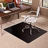 ES Robbins Carpet Chair Mat, 36' x 48', Black