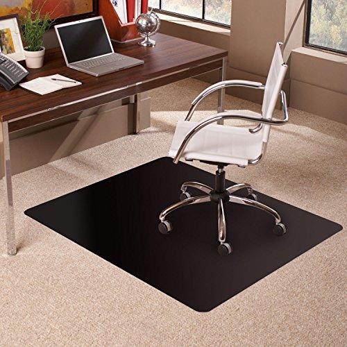 ES Robbins Carpet Chair Mat, 36  x 48 , Black