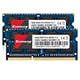 Kuesuny 8GB kit (2x4GB) Compatible for Apple DDR3 1066MHz / 1067MHz PC3-8500 SODIMM RAM Upgrade for Late 2008, Early/Mid/Late 2009, Mid 2010 MacBook, MacBook Pro, iMac, Mac Mini