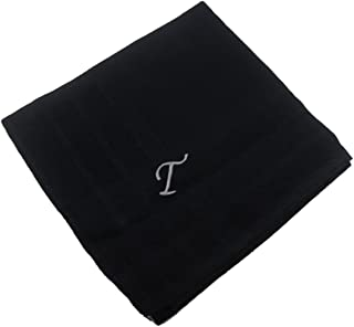 OWM Handkerchief Cotton Embroidered Custom Initial Monogram Handkerchief Men