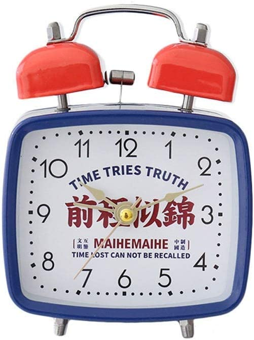 ZHZHUANG Desk Clock Alarm Mute Creative Metal High quality Retro Inventory cleanup selling sale Person