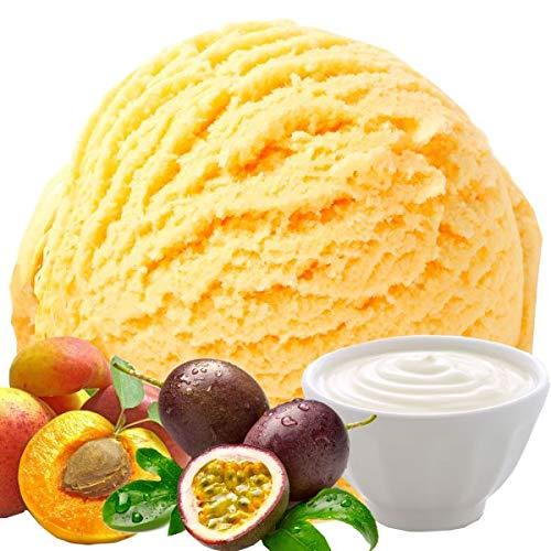 1 Kg Joghurt Pfirsich Maracuja Geschmack Eispulver VEGAN - OHNE ZUCKER - LAKTOSEFREI - GLUTENFREI - FETTARM, auch für Diabetiker Milcheis Softeispulver Speiseeispulver Gino Gelati