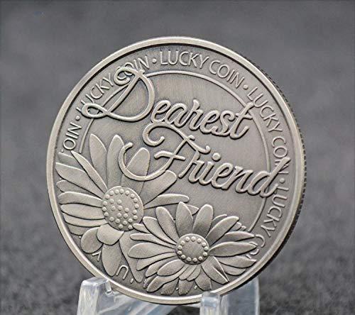 Moneda Conmemorativa de la Suerte de trébol, Querido Amigo, trébol de Cuatro Hojas, Monedas de Recuerdo, Regalo de Amor, envío Directo