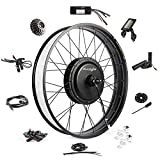 EBIKELING Waterproof Ebike Conversion Kit 48V 1200W 26' Fat Tire Direct Drive Electric Bike Conversion Kit - Rear Wheel Electric Bike Kit - Electric Motorbike Kit (Rear/LCD/Thumb)