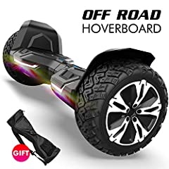 RUGGED DESIGN & OFF ROAD - The Warrior 8.5 inch off road hoverboard with aircraft grade aluminum alloy frame,powered by two 350W motor with 8.5 inch no inflatable solid rubber tire for all terrain. With this off road hoverboard, you can use it on gra...