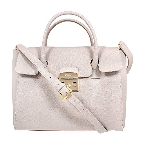 Furla Metropolis Ladies Medium White Perla Leather Satchel 978149