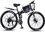 E-Bike Mountainbike Electric Snow Bike, 26 Zoll Falten Elektrische Fahrräder, 36V1AH 350W Berg Schneebike Fahrrad Sport Outdoor Lithium Batterie Strand Cruiser für Erwachsene (Farbe: grau) Elektrofahr