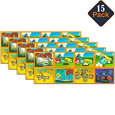 Angry Birds Stickers Party Favors Pack ~ Bundle Includes 15 Sticker Sheets (120 Jumbo Stickers, Angry Birds Party Supplies)