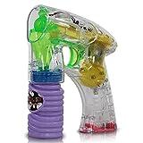 2 Stück Seifenblasen-Pistole mit LED Beleuchtung, Seifenblasenmaschine - ideal z.B. für Hochzeit / Partygag