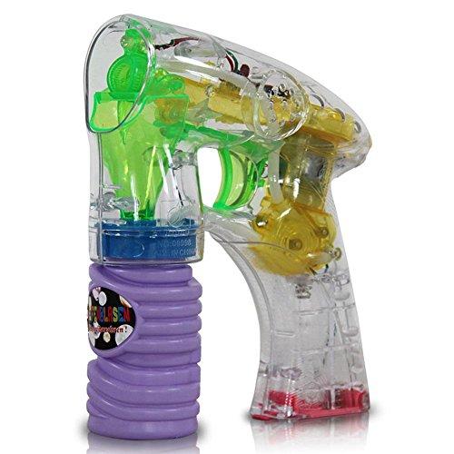 Pistola de pompas de jabón con luz LED
