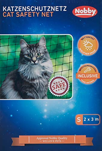 Nobby Katzenschutznetz schwarz S 2 x 3 m