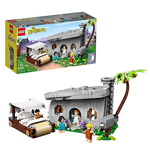 LEGO Ideas - The Flintstones, Set de Construcción de Los Picapiedra, Incluye Minifiguras de los Personajes Pedro Picapiedra, Pablo Marmol, Vilma y Betty (21316)