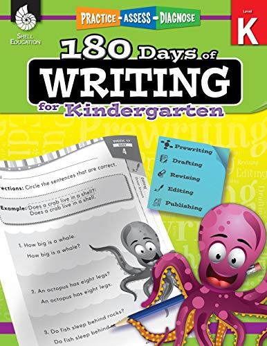 180 Days of Writing for Kindergarten - An Easy-to-Use Kindergarten Writing Workbook to Practice and Improve Writing Skills (180 Days of Practice)