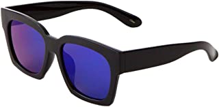 Large Thick Square Sunglasses Flat Lens Color Mirror Mod Fashion