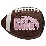 Passback Pink Junior Composite Football, Ages 9-13, Youth Training Football