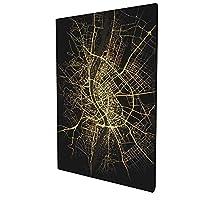 HIROMANアートパネル インテリアアート 地図アート-ブダペスト 人気 絵画 インテリア おしゃれ 壁掛け 装飾画 30x45cm