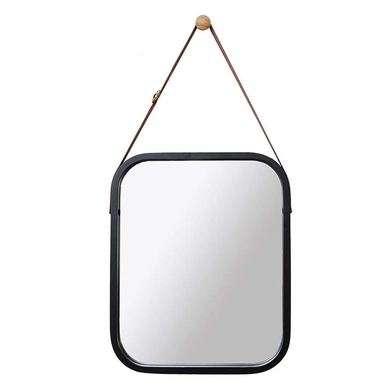 モナリザ崖鏡MQQ 壁化粧鏡吊り鏡装飾鏡長方形化粧鏡鏡Bear鏡洗面化粧台浴室寝室リビングルーム (Color : ブラック)