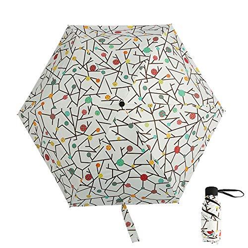 xinrongqu Nuevo 50 Fold Pocket Umbrella Pocket Black Plastic Sun Umbrella Portable Shade Sun Umbrella Candy Tree 48.5X6K