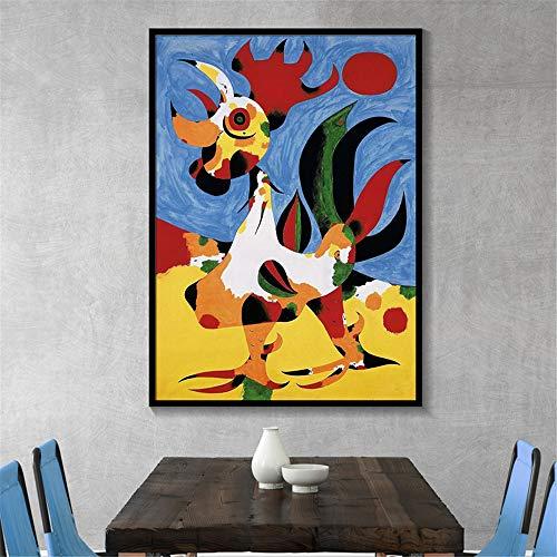 Danjiao Joan Miro Abstrakte Aquarell Wandkunst Poster Und Drucke Berühmte Leinwand Malerei Wohnzimmer Dekoration Bilder Wohnzimmer 40x60cm