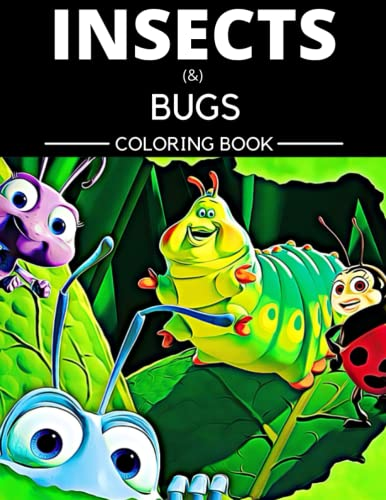 Insects & Bugs Coloring Book: Jumbo Pattern Anime Butterfly Designs Party Favors Fun Activity Coloring Pages for Adults, Kids Ages 4-8, 3-5, 2-4, ... Crayons Colored Pencils Kawaii Stress Relief