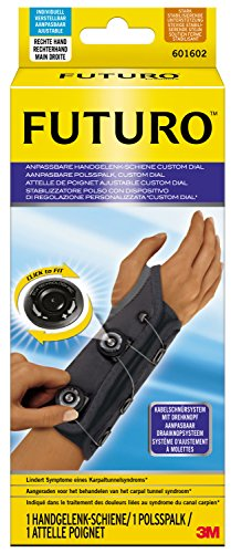 FUTURO FUT60160 Handgelenkschiene anpassbar Custom Dial, für Rechte Hand