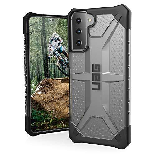 "Urban Armor Gear Plasma Schutzhülle Samsung Galaxy S21+ 5G (6,7\"" Zoll) Hülle (Wireless Charging kompatibles Cover, Sturzfeste Handyhülle, Ultra Slim Bumper) - ice (transparent)"