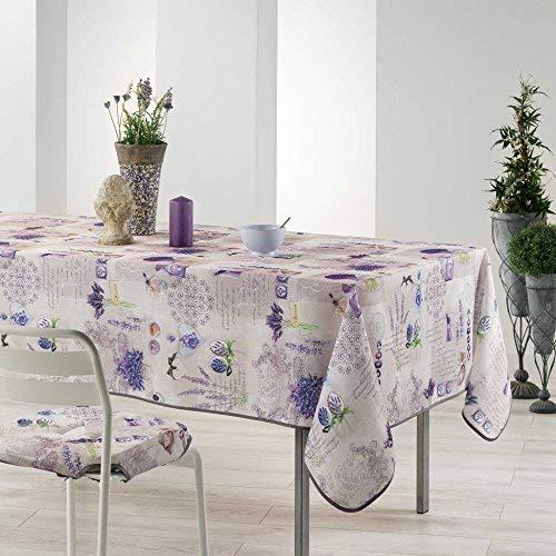 Arte Provenzale TOVAGLIA ANTIMACCHIA Dis. SENTORIAL Rettangolare e Rotonda per Sala da Pranzo e Cucina (Rotondo_180_cm)