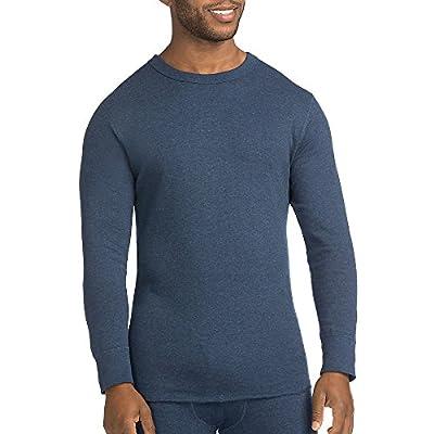 Duofold by Champion Men's Originals Wool-Blend Thermal Shirt_Blue Jean_XL