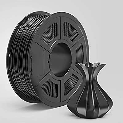 AnKun PETG Filament 1.75mm Black 3D Printer Filament, 1kg Spool 3D Printing Material, Dimensional Accuracy +/- 0.02 mm