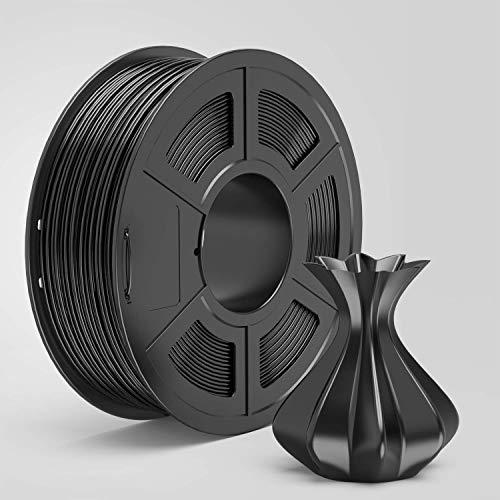 AnKun PETG Filament 1.75mm Black 3D Printer Filament, 1kg Spool 3D Printing Material, Dimensional Accuracy +/- 0.02 mm
