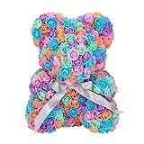 FOSTUDORK Rose Teddybär Kit, Seifenschaum Puppe Kaninchen Panda-Liebe Blumen Künstliche Hochzeit...