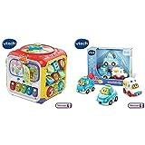 VTech - 183405 - Super Cube des découvertes & 207325 - Jouet Musical - Tut Tut Bolides - Coffret Trio City