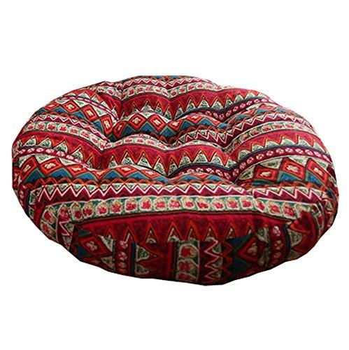 Retro Espesar algodón Almohadilla de Piso de Lino colchón de Futon Asiento de cojín Redondo, A6
