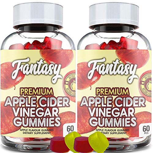 (2 Pack | 120 Gummies) Organic Apple Cider Vinegar Gummies with The Mother - Gummy Alternative to Apple Cider Vinegar Capsules, Pills, ACV Tablets