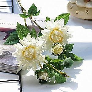 Artificial Flower 4Heads/Branch Dahlia Silk Artificial Flowers Christmas Wedding Decoration Flores Party Home Decor Wreath