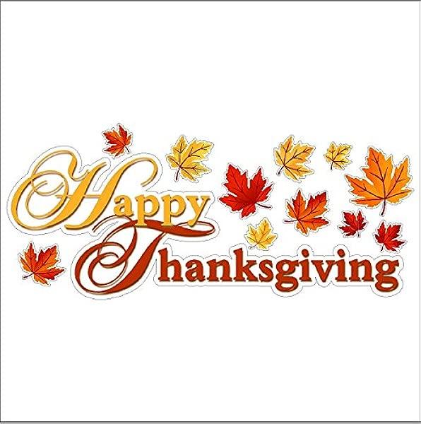 眼睛糖果标志快乐感恩节静态 Cling 窗口感恩节贴花可拆卸和可重复使用的感恩节 Clings