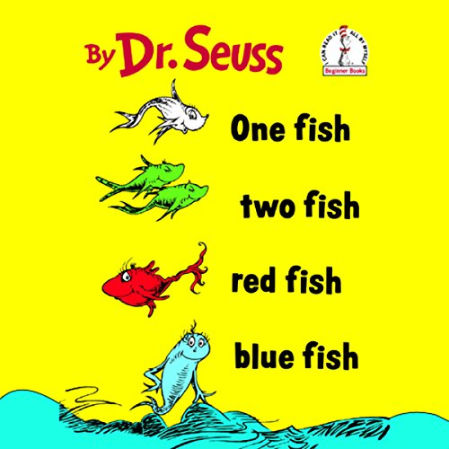 One Fish Two Fish Red Fish Blue Fish audiobook cover art
