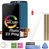 Z3 Play LCD Screen Replacement Touch Display Digitizer Assembly 6.01' (Black) for Motorola Moto Z3 Play XT1929-1 XT1929-3 XT1929-4 XT1929-5 XT1929-6 XT1929-6M XT1929-8 XT1929-15 XT1929-17
